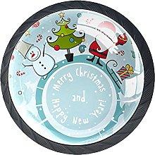 4 Pcs Drawer Pull Handle , Christmas Theme Drawer