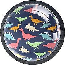 4 Pcs Drawer Pull Handle , Dinosaur Pattern Drawer