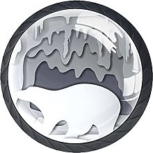 4 Pcs Drawer Pull Handle , Polar Bear in Cave