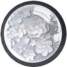 4 Pcs Drawer Pull Handle , Sakura Drawer Knobs