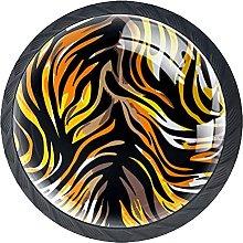 4 Pcs Drawer Pull Handle , Tiger Stripes Drawer
