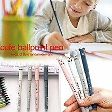 4 Pcs Erasable Gel Ink Pen Cute Pigs Panda Gel Ink