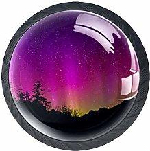 4 Pcs Fantastic Purple Aurora Crystal Class