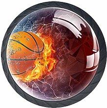 4 Pcs Fire Ice Sports Basketball Crystal Class