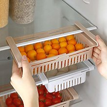 4 Pcs Fridge Drawer Organizer,Fridge Shelf Holder