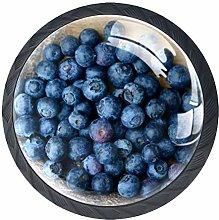 4 Pcs Fruit Blueberries Crystal Class Cabinet