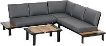 4 Pcs Garden Furniture Conversation Set w/