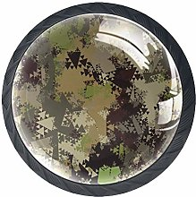 4 Pcs Geometry Camouflage Crystal Class Cabinet