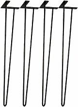4 Pcs Hairpin Table Legs Metal Furniture Legs,