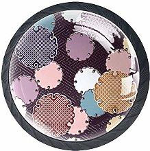 4 Pcs Japanese Circle Pattern Crystal Class