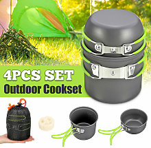 4 pcs of outdoor camping cookware non stick bowl