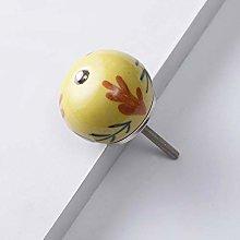 4 pcs Pastoral Style Painted Ceramic Knobs Round