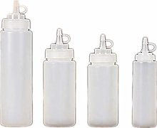 4 Pcs Plastic Squeeze Bottles Barbecue Olive Oil