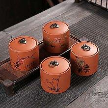 4 Pcs Purple Clay Tea Storage Container Tins Jar