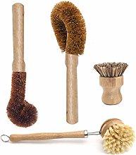 4 Pcs/Set Kitchen Plant Based Cleaning Brushes