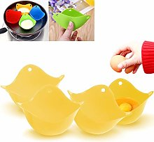 4 PCS Silicone Egg Poacher, Egg-Boiler Cup