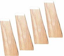 4 Pcs Solid Wooden Sofa Legs Furniture Legs,Square