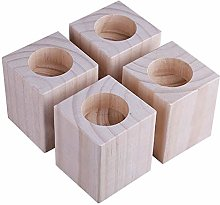4 pcs Wood Furniture Risers/Bed Risers,Heavy Duty