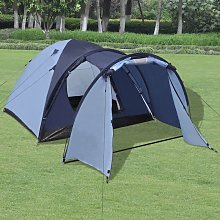 4-person Tent Blue VD32248 - Hommoo