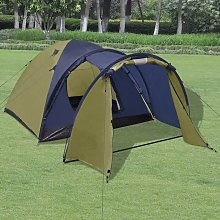 4-person Tent Green VD32249 - Hommoo