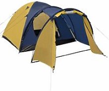 4-person Tent Yellow QAH32250 - Hommoo