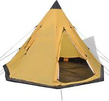 4-person Tent Yellow VD32241 - Hommoo