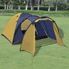 4-person Tent Yellow VD32250 - Hommoo