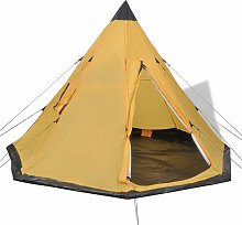 4-person Tent Yellow VDTD32241 - Topdeal