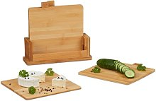 4 Piece Bamboo Chopping Board Set Symple Stuff