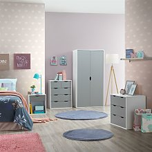 4 Piece Bedroom Furniture Set Wardrobe Chest
