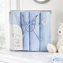 4 Piece Cot Bedding Set Clair De Lune Colour: Blue