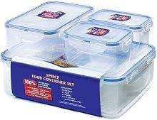 4-Piece Food Storage Set Lock & Lock