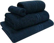 4 Piece Kendra Towel Set Symple Stuff Colour: Navy