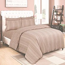 4 Piece Reversible Duvet/Bed Cover Complete