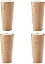 4-Piece Set of Wooden Furniture Cabinet Legs, 30cm