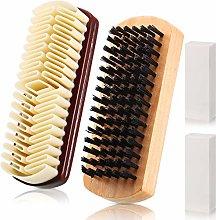 4 Piece Shoe Brush Kit Suede Brush Eraser Dauber