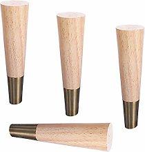 4 Piece Solid Wood Furniture Legs,Sofa Feet,Wooden