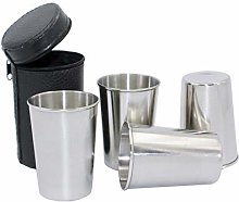 4 Pieces 170ml (5.7 oz) Stainless Steel Shot Cups