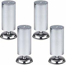 4 Pieces Adjustable Furniture Legs, Aluminum