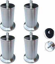 4 Pieces,Adjustable Furniture Legs,Stainless Steel