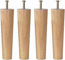 4 Pieces Cabinet Feet Wood Table Legs Solid Wood