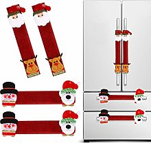 4 Pieces Christmas Refrigerator Door Handle Cover,