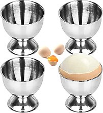 4 Pieces Egg Cup Set, Stainless Steel Egg Cups