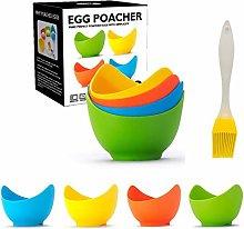 4 Pieces Egg Poacher - Non-Stick Silicone Egg