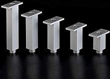 4 Pieces Furniture Legs,Square Heavy-Duty Aluminum