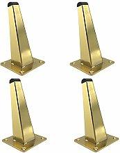 4 Pieces Furniture Legs,Square Oblique Cone