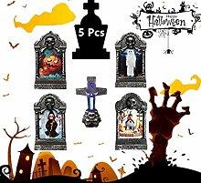 4 pieces Halloween grave lamp, night light, DIY