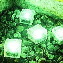 4 Pieces Ice Brick Light, IP68 Waterproof Ice