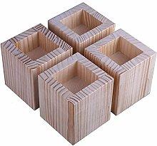 4 Pieces L-Shape Semi-Closed Lift Wood,Table