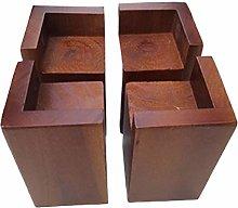 4 Pieces L-Shape Semi-Closed Wood Lift,Table